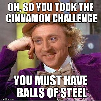 cinnamon challenge meme
